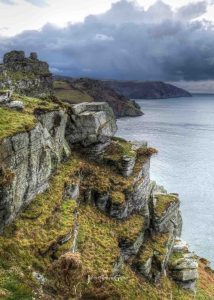 Valley of Rocks cliff view