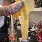 Ben making pasta
