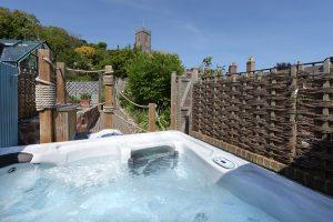 Hot tub at Stone Barn
