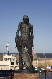 Statue of the ancient mariner at Watchet