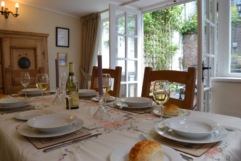 Dining room at The Oval, Dunster